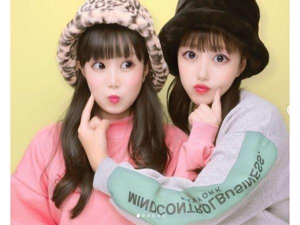 東菜摘と妹のあやちゃんのプリクラ写真